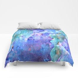 ESOTERIC AMETHYST CRYSTALS &  AQUAMARINE CRYSTALS Comforters