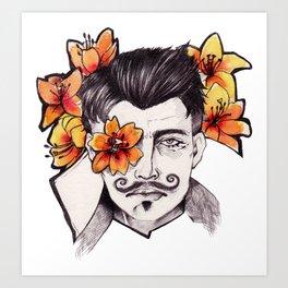 Lilies - Dorian Pavus Art Print