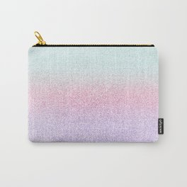 Colorful Purple, Pink and Green Watercolor Trendy Glitter Mermaid Pastel Iridescent Carry-All Pouch