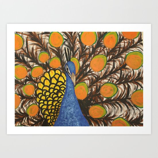 """color me feather"" Art Print"