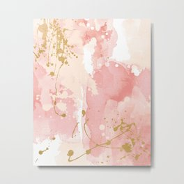 Abstract pink painting Metal Print