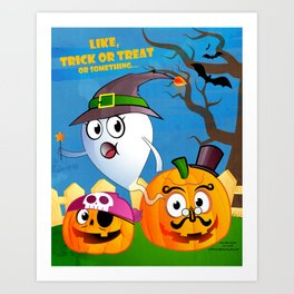 Halloween Ghost - Trick or Treat Art Print