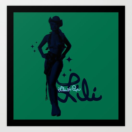 """Signed Lili"" by One Trick Pony Art Print"