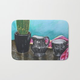 Cactus and Tea Bath Mat