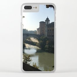 Dawn on the Tiber Clear iPhone Case