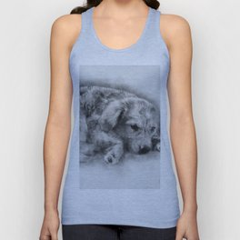 Sweet Cappuccino Puppy Unisex Tank Top
