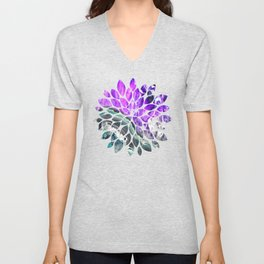 Purple Agate Crystal Unisex V-Neck