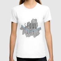 seoul T-shirts featuring Seoul city by Vania Pietronigro