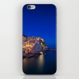 As the night falls over Manarola iPhone Skin