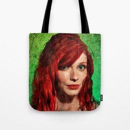 Christina Hendricks Painting Tote Bag