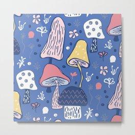 Mushroom Garden Metal Print