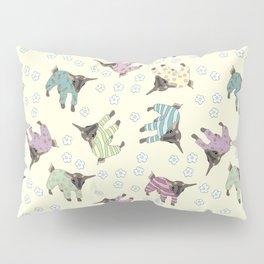 Pajama'd Baby Goats - Yellow Pillow Sham