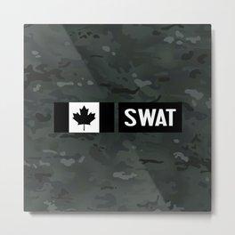 Canadian SWAT: Black Camouflage Metal Print