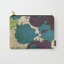 Abstract Lemonchiffon khaki splash Carry-All Pouch