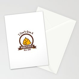 I Don't Give a Shit :) Stationery Cards