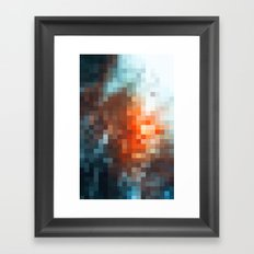 winter light - pixel pattern version - iphone Framed Art Print