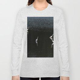 Egrets At Night Long Sleeve T-shirt