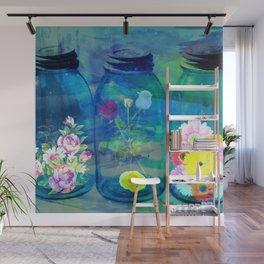 Flowers Jars Wall Mural