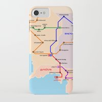 middle earth iPhone & iPod Cases featuring Middle-Earth metro map by tuditees