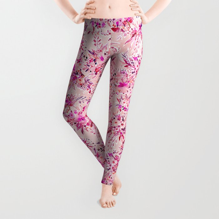 GIMME THAT Pink Wild Floral Leggings