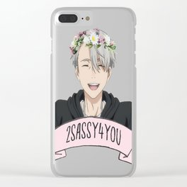 Yuri!!! on Ice - Viktor Nikiforov Flower Crown Clear iPhone Case