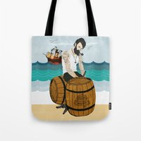 moby Tote Bags featuring Captain Moby by Napa