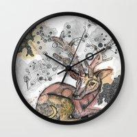 fawn Wall Clocks featuring Fawn by Pfirsichfuchs