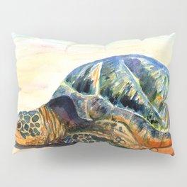 Turtle at Poipu Beach 8 Pillow Sham
