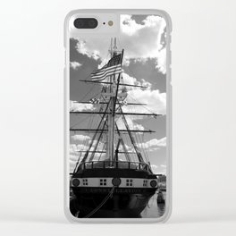 Baltimore Harbor - USS Constellation Clear iPhone Case