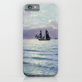 Sea 1898 By Lev Lagorio   Reproduction   Russian Romanticism Painter iPhone Case