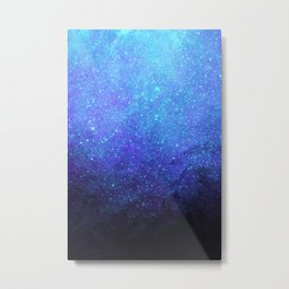 Blue Heavens: Vibrant Starfield Metal Print