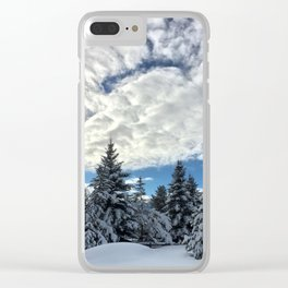 Snow N Clouds Clear iPhone Case