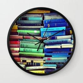 Rainbow Books Wall Clock