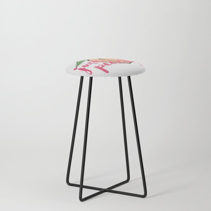 JUST PEACHY Counter Stool
