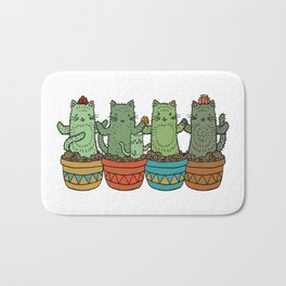 Catcus Garden (Single Row) Bath Mat