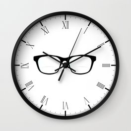 Pair Of Optical Glasses Wall Clock