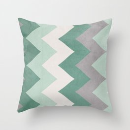 Wintergreen - Chevron Throw Pillow