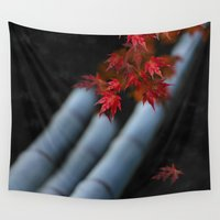 bamboo Wall Tapestries featuring Bamboo by Anne Seltmann