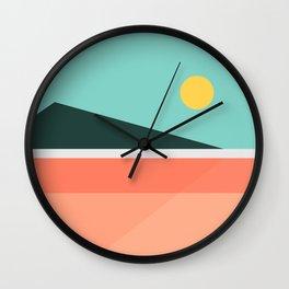 Geometric Landscape 15 Wall Clock
