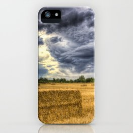Stormy day on the farm iPhone Case