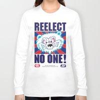 politics Long Sleeve T-shirts featuring Polar Bear Politics by Clore Concepts Chucks Stuff