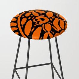 Beautiful Orange Otomi Bar Stool