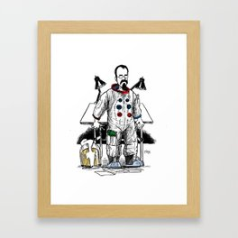 astronaut frank and drawing board... Framed Art Print