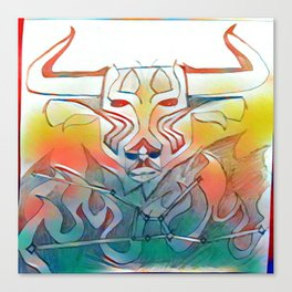 Burning Taurus Canvas Print