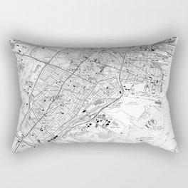 Vintage Map of Jersey City NJ (1967) BW Rectangular Pillow