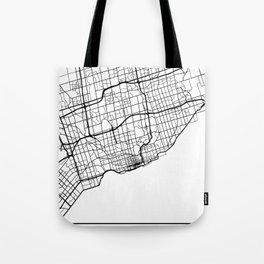 TORONTO CANADA BLACK CITY STREET MAP ART Tote Bag