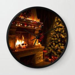 Holiday Christmas Christmas Tree Living Room Light Wall Clock