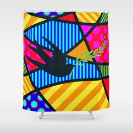 Lucky Swallow SQuare Shower Curtain