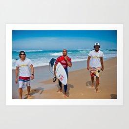 Pro Surfer & Legend Kelly Slater Art Print