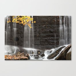Rock Wall Autumn Falls Canvas Print
